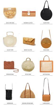woven bag - round up - wicker bag - rattan - Sarah Sherman Samuel