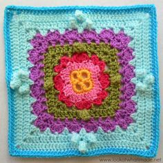 Embracing Variety Crochet Square Block 34:  Embracing Variety Square  {Photo Tutorial}