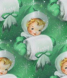 Vintage Christmas Gift Wrapping Paper.