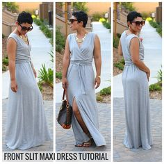"The Front Slit Maxi Dress is versatile and fabulous. It can be made from a woven or knit fabric and can be dressed up or down.This will be one you will make over and over again<B>Product Description:</B>Step by Step VIDEO Tutorial.Great for Beginners and Intermediate Seamstresses.My Step-by Step VIDEO Tutorials are extremely detailed and I show you every step while we ""sew together"" I make sure to explain why I am doing something and what the benefit is..."