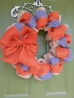Florida Gators Burlap Wreath @Kelly Teske Goldsworthy Teske Goldsworthy Barnes  Can you make me one?