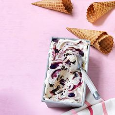 No-Churn Black Forest Ripple Ice Cream