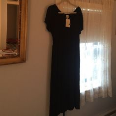 Dress Black dress, mid calf, with or without tie. Merona Dresses Midi