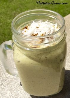 Creamy Banana Avocado Smoothie | Only 187 Calories | Dreamy Light Breakfast or on-the-go snack | Satisfying & Healthy, No added sugar | Please check out our 21 Day Body Reboot www.NutritionTwins.com
