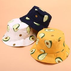 Blue Yellow White Adult and Children Hat Avocado Fisherman Kids Women Outfits With Hats, Cute Casual Outfits, Custom Bucket Hats, Cool Bucket Hats, Kids Bucket Hat, Fisherman's Hat, Polyester Material, Cute Hats, Kids Hats