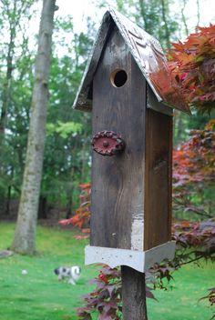 Primative old water valve birdhouse. $109.00, via Etsy.