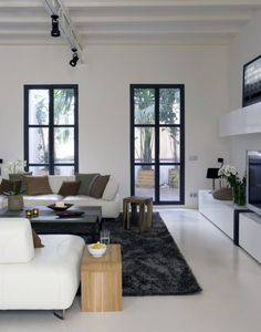 Achieving Best Interior Design Inspiration: Fabulous Interior Design Inspirations For Front Room With White Contemporary Sofa Bed Also Brown Decorative Pillows Ikea Corner Desk As Well Modern Sideboard As Tv Cabinet ~ surrealcoding.com Interior Inspiration