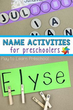 Are you looking for easy name practice activities for your preschoolers? Use these simple, homemade name activities as a morning activity when your preschoolers first come to school or set them up for practice at the literacy center. Students get to practice spelling their name with a hands-on approach which makes learning fun. Students get to use their fine motor skills as they manipulate the letters. This is also a great letter identification activity as well. Preschool Name Recognition, Letter Identification Activities, Preschool Names, Preschool Literacy, Letter Activities, Phonics Activities, Preschool Lessons, Kindergarten, Motor Activities