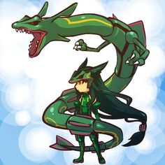 I just love these cute, chibi pokemon trainers based off of their pokemon! Pokemon Rayquaza, 3d Pokemon, Pokemon People, Pokemon Fan Art, Pokemon Fusion, Creepy Pokemon, Pokemon Stuff, Pikachu, Pokemon Cosplay