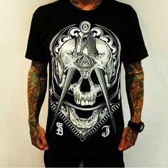 Pale Horse Design Masonic Tattoos, Pale Horse, Horses, Instagram Posts, Mens Tops, Shirts, Design, Style, Fashion