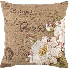 almohadon en arpillera pintado