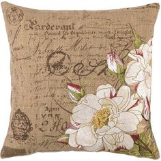 Tipped Rose Pillow.