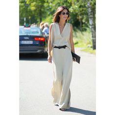 Blogger Golestaneh in By Malene Birger Lawan dress