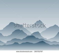 Vector illustration gradient Mountains