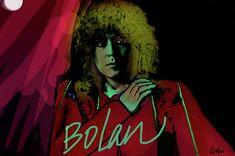 Marc Bolan by enki by Enki Art Marc Bolan, Portrait Art, Portraits, Modern Love, Bright Stars, Image Categories, Woodland Party, T Rex, Rock N Roll
