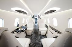 Luxury Private Jets Interior White Design The Beauty Hunter