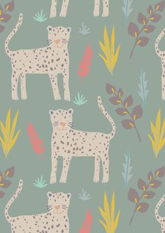 Cute Leopard Jungle by Sarah Betz
