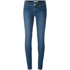 Levi's Skinny Jeans (2,000 MXN) ❤ liked on Polyvore featuring jeans, skinny fit jeans, levi jeans, cut skinny jeans, denim skinny jeans and blue jeans