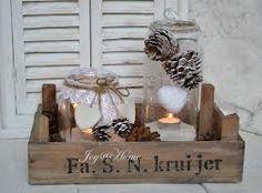 rotan windlicht - Google zoeken Christmas Love, Country Christmas, Winter Christmas, Vintage Christmas, Christmas Candles, Theme Noel, Xmas Decorations, Diy Decoration, Christmas Projects