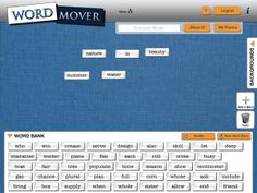 Wordmover poetry app.  Just like the magnetic words you have on your refrigerator.  Make poetry with this free app.