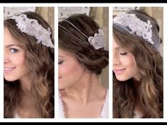 Super cute and easy headpieces instead of veil. DIY