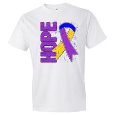 Bladder Cancer Hope Ribbon T-Shirts #BladderCancer #BladderCancerawareness #BladderCancerShirts