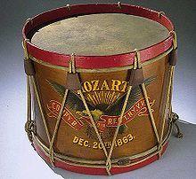 Drum carried by John Unger, Company B, 40th Regiment New York Veteran Volunteer Infantry Mozart Regiment, December 20, 1863