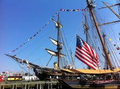 When the Tall Ships are in town make sure you head to the Halifax waterfront see the amazing boats! Halifax Waterfront, City By The Sea, City Block, Tall Ships, Nova Scotia, Historical Sites, Summer 2016, Sailing Ships, Terrace