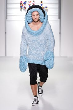 Runway by Sibling.  This designer must either be off their meds or realllly hate men ... or both.