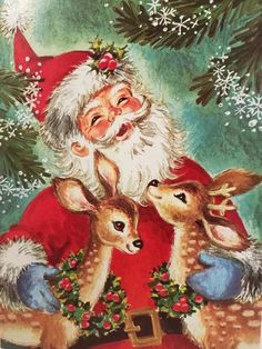 Name A Animal You Might See On A Christmas Card.4647 Best Vintage Christmas Cards Images In 2019 Vintage