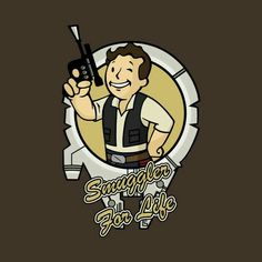 T-Shirts by ApgarArts Fallout 4 Funny, Fallout 4 Vault Boy, Fallout Art, Star Wars Karikatur, Star Wars Cartoon, Fall Out 4, Twisted Disney, Cartoon Crossovers, Star Wars Tshirt