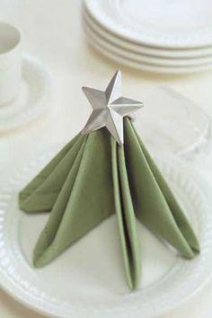 christmas tree napkin