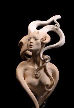 fantasy art and sculpture by forest rogers Zbrush, Toy Art, Fantasy Kunst, Fantasy Art, Le Kraken, Motif Art Deco, Art Sculpture, Inspiration Art, Merfolk