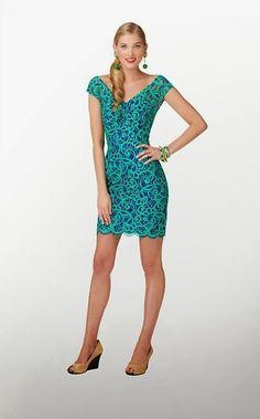 blue green combo summer dress