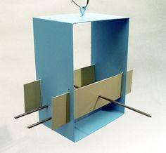 modern birdhouse- great colors