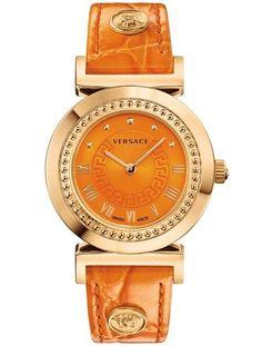 Versace Versace: Vanity Women's Orange Watch (391193201) ($717) ❤