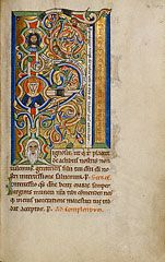 Initial F: The Tree of Jesse, German, about 1170s