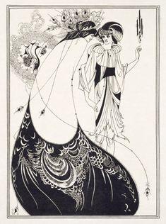 The Peacock Skirt   Beardsley, Aubrey Vincent