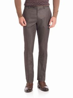ETRO Jacquard Silk & Wool Trousers. #etro #cloth #trousers