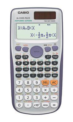Casio Silver Scientific Calculator Natural Textbook Display School ACT SAT Test #Casio