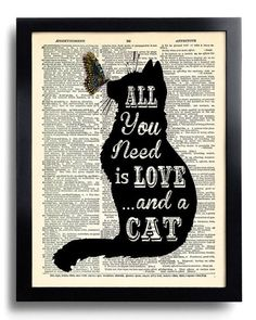 This print that speaks the truth: | Community Post: 20 Adorable Items For Anyone Who's Obsessed With Cats