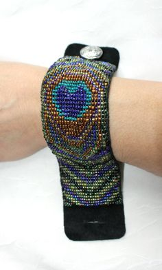 Loom Beaded Bracelet Peacock Design by MysticalHeart7 on Etsy, $97.00