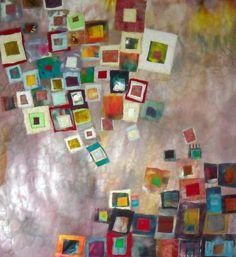 'encroachment' art quilt  Lorie McCown