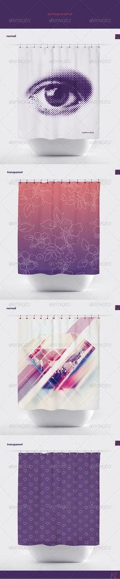 Bath Curtain Mock Up By Disabled Nightmarecatcher On Graphicriver 2 Psd Files Px 72 Dpi