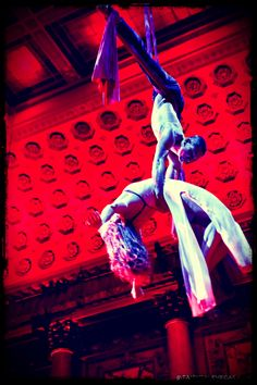 Angela and Joshua - flying silks at Capitale in NYC