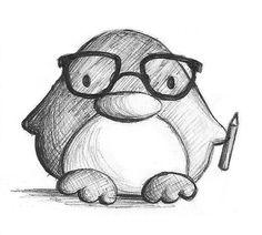 Nerd Penguin by B-Keks on DeviantArt