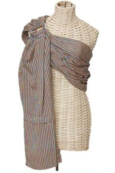 Brown Stripe lightly padded ring sling.  www.wovenwraps.com Maya Wrap, Ring Sling, Stylish, Brown, Fashion, Moda, Fashion Styles, Brown Colors, Fashion Illustrations