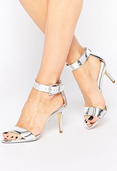 Slinky silver shoes are guaranteed to make your fancy outfit fancier