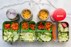 Leftover mac & cheese and a simple deconstructed salad make for a super easy school lunch.  Packed by @whatlisacooks