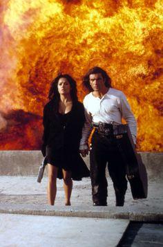 """Antonio Banderas, Salma Hayek in """"Desperado"""" (1995). DIRECTOR: Robert Rodriguez."""
